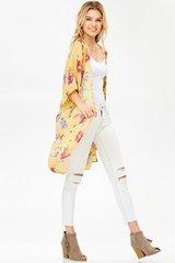 Step into Spring Yellow Kimono
