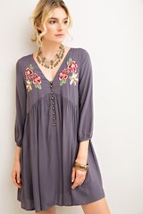 Perfect Day Embroidered Tunic Dress