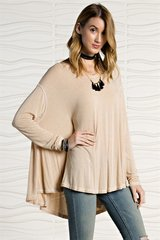 Easy Going Long Sleeve Swing Top - Mustard