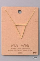 MUST HAVE Necklace - Triangle Gold