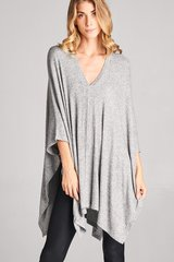 All Wrapped Up Tunic Top - Heather Gray
