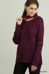 Hide Away Burgundy Sweater
