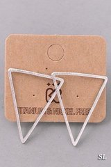 MUST HAVE Triangle Earrings - Silver