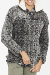 Faux Fur Sherpa Pullover - Charcoal
