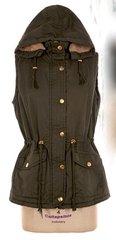 Olive Fur Lined Vest - Plus Size