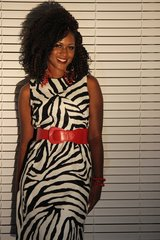 Black/White Zebra Print Dress