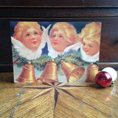 £1 Christmas Card!!! 'Christmas Bells' Traditional Victorian Christmas Card Repro