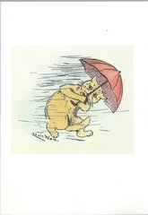 £1 Card!!! 'What Terrible Weather!' Vintage Cat Greeting Card. Illustration by Louis Wain.