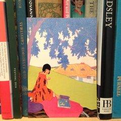 'Under The Tree' Vintage Fashion Illustration Greeting Card