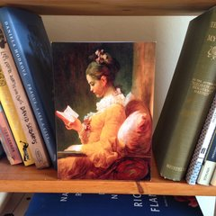 'A Young Girl Reading' Classic Painting by Fragonard Greeting Card