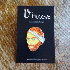 Vincent Van Gogh Enamel Pin Badge. Fantastic Full Colour Bronze Metal Pin.