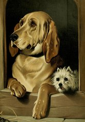 'Best Friends' Adorable Vintage Dog Greeting Card Repro.