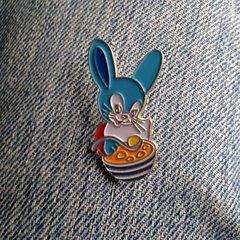 Bunny Loves Dumpling Soup! Soup-er Cute Pin Badge by Ex Child Genius