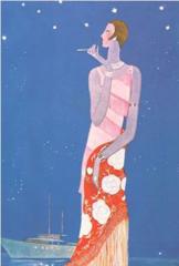 'A Starry Interlude' Elegant Art Deco Greeting Card