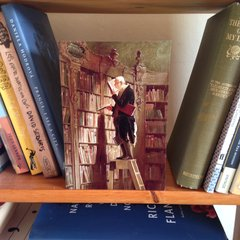 'The Book Worm' Classic Painting Greeting Card
