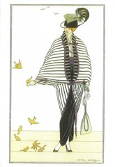 'The Yellow Birds' Charming Art Deco Illustration Greeting Card Victor L Huer