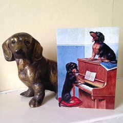 'Once More With Feeling' Adorable Vintage Illustration Greeting Card