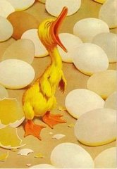 Cute Newly-hatched Chick Vintage Greeting Card Reproduction. New Baby.