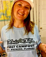 2017 Campout Shirt - Light Blue Short Sleeve