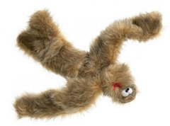 Plush Dog Toys: Fuzzy Tango with Fun Fabric and Two Squeakers by West Paw Design
