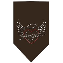 Dog Bandanas: Rhinestone Dog Bandana 'ANGEL HEART' Different Colors Sizes Small or Large by Mirage USA