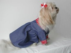 Dog Dresses: Down on the Farm Denim Dog Dress Alexis Creations USA