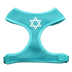 Dog Harnesses: Screen Print STAR OF DAVID - Soft Mesh Dog Harness in Several Sizes & Colors USA