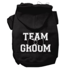 Dog Hoodies: TEAM GROOM Screened Print Dog Hoodie in Various Colors and Sizes by Mirage