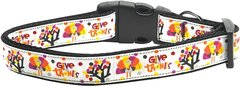 Holiday Nylon Dog Collars: Nylon Ribbon Collar Mirage Pet Products - GIVE THANKS