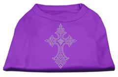 Dog Shirts: CROSS Rhinestone Dog Shirt in Various Colors & Sizes by Mirage