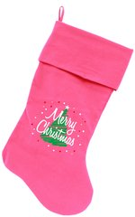 Dog Christmas Stockings: Scribbled Merry Christmas xmas Pet Stocking