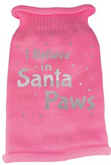 Dog Sweaters: Screen Print I BELIEVE IN SANTA PAWS Knit Dog Sweater in Different Colors & Sizes - Mirage
