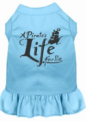 DOG DRESSES: Embroidered A PIRATE'S LIFE FOR ME Dog Dress by Wanderlust Sizes Sm - 4X