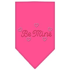 Dog Bandanas: Rhinestone Dog Bandana 'BE MINE' Different Colors Sizes Small or Large by Mirage USA