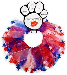 Smoochers Dog Collars: Smoocher Dog Collar - RED, WHITE, AND BLUE STAR