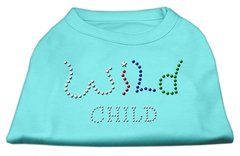 Dog Shirts: WILD CHILD Rhinestone Dog Shirt in Various Colors & Sizes by Mirage
