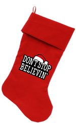 Dog Christmas Stockings: Don't Stop Believin' Christmas Dog Stocking