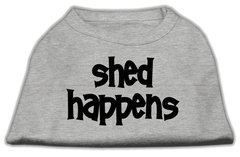 Dog Shirts: SHED HAPPENS Screen Print Dog Shirt in Various Colors & Sizes by Mirage