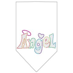 Dog Bandanas: Rhinestone Dog Bandana 'TECHNICOLOR ANGEL' Different Colors in Small or Large by Mirage USA