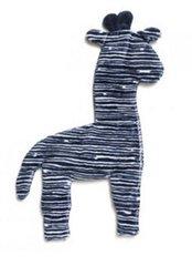 "Dog Toys: Unstuffed 14"" Tall Floppy Giraffe Shape Dog Toy with Squeaker"