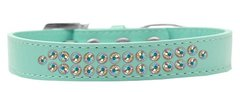 BLING DOG COLLARS: Dog Collar in Various Sizes & Colors - TWO ROWS AB CRYSTALS DOG COLLAR