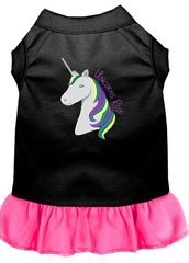 DOG DRESSES: Embroidered UNICORNS ROCKS Dog Dress by Wanderlust Sizes Sm - 4X