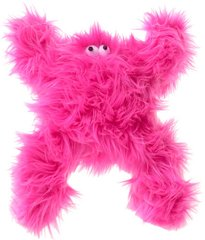 """Plush Dog Toys: Colorful 10"""" Furry Boogey Dog Toy with Squeaker"""