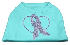 Dog Shirts: PINK RIBBON Rhinestone Dog Shirt in Various Colors & Sizes by Mirage