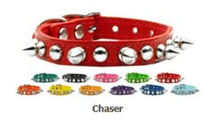 Spiked Dog Collars: Genuine Leather Dog Collar Mirage Pet Products USA - CHASER