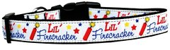 Patriotic Dog Collars: Nylon Ribbon Collar by Mirage Pet Products - LITTLE FIRECRACKER