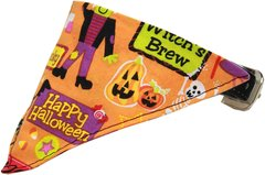 Dog Bandana Pet Collars: Halloween Bandana Pet Collar in Different Designs and Sizes by MiragePetProducts Made in USA