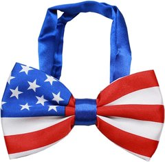 "Dog Bow Ties: Big Dog Bow Tie American Flag Style Neck 11"" - 19"" by Mirage Pet Products"