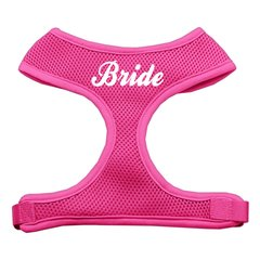 "Dog Harnesses: Screen Print - ""BRIDE"" Soft Mesh Dog Harness in Several Sizes & Colors USA"