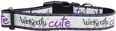 Dog Collars:Nylon Ribbon Collar by Mirage Pet Products USA - WICKEDLY CUTE